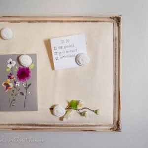 DIY Memo board. Easy DIY craft for office or craft organization or even command centers. Plus, has a rustic farmhouse feel to it.