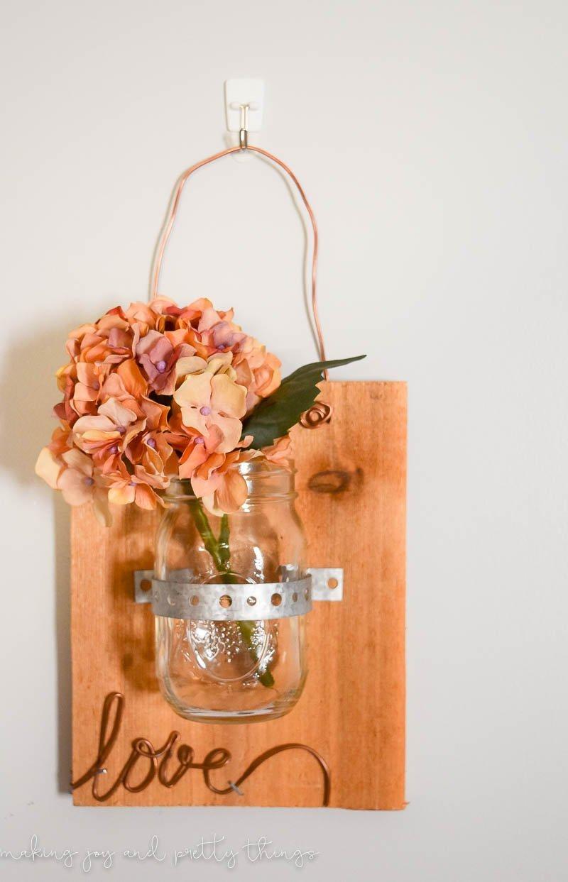 DIY Scrap Wood Mason Jar Planter 3