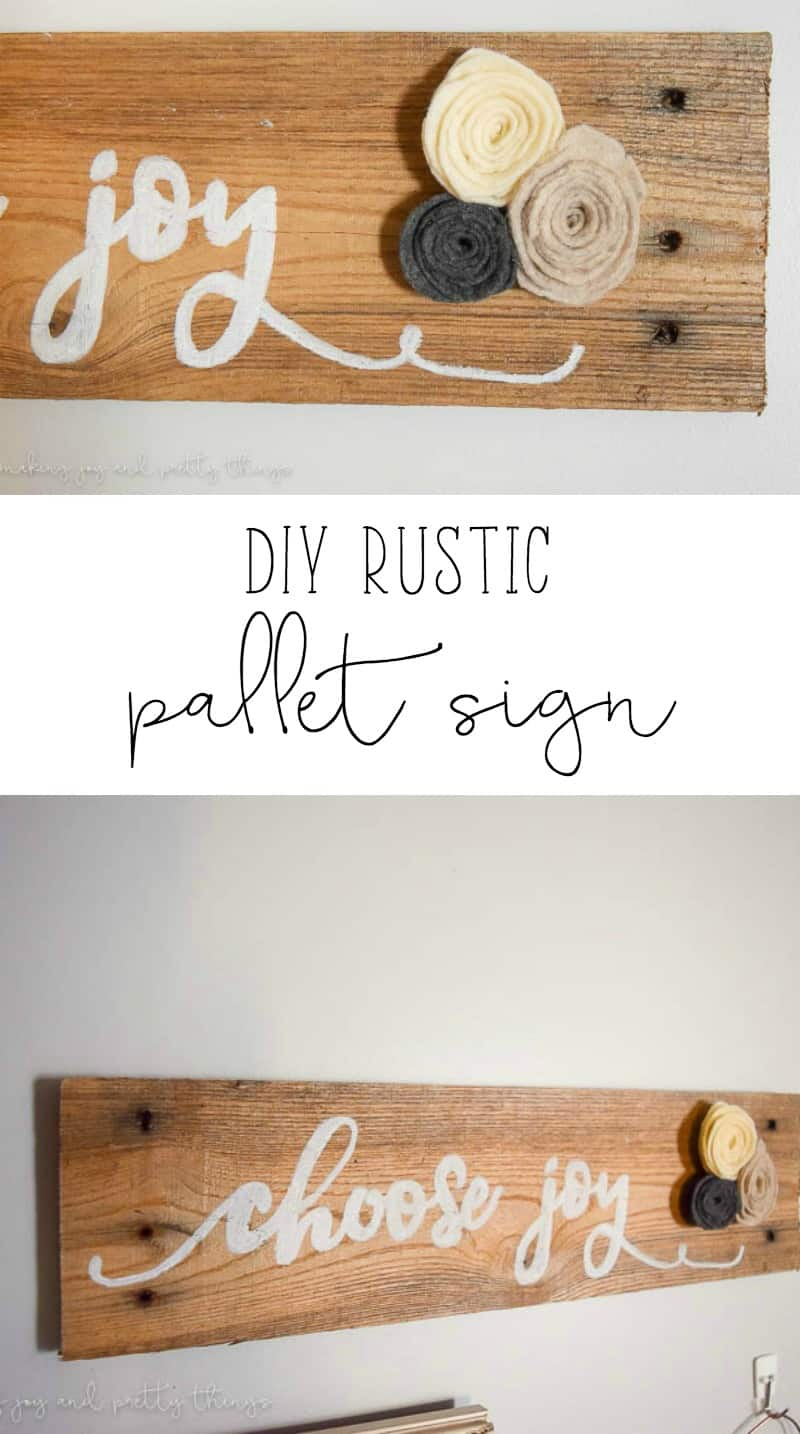 DIY Rustic Pallet Sign | DIY Ideas | DIY Projects | Home Decor | Farmhouse | Fixer Upper Ideas | Home Decor Ideas
