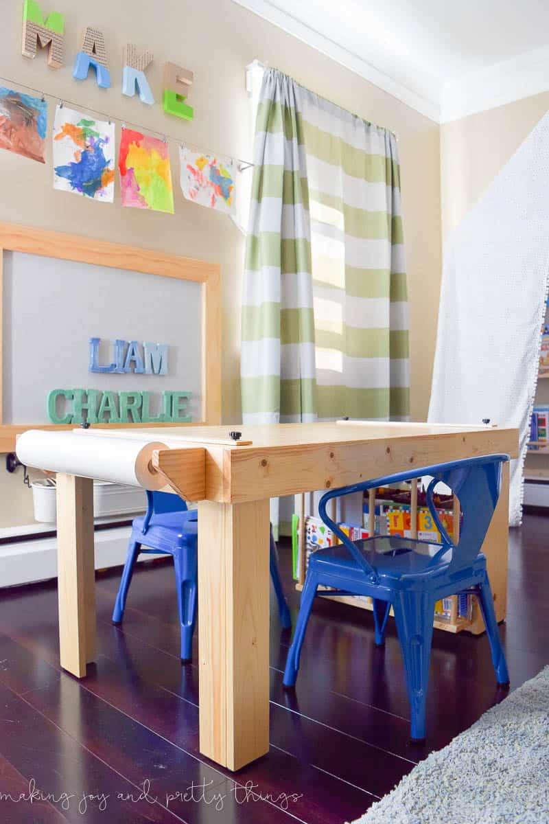 diy kid's craft table | diy table | shared boys bedroom | budget-friendly | diy ideas | diy projects