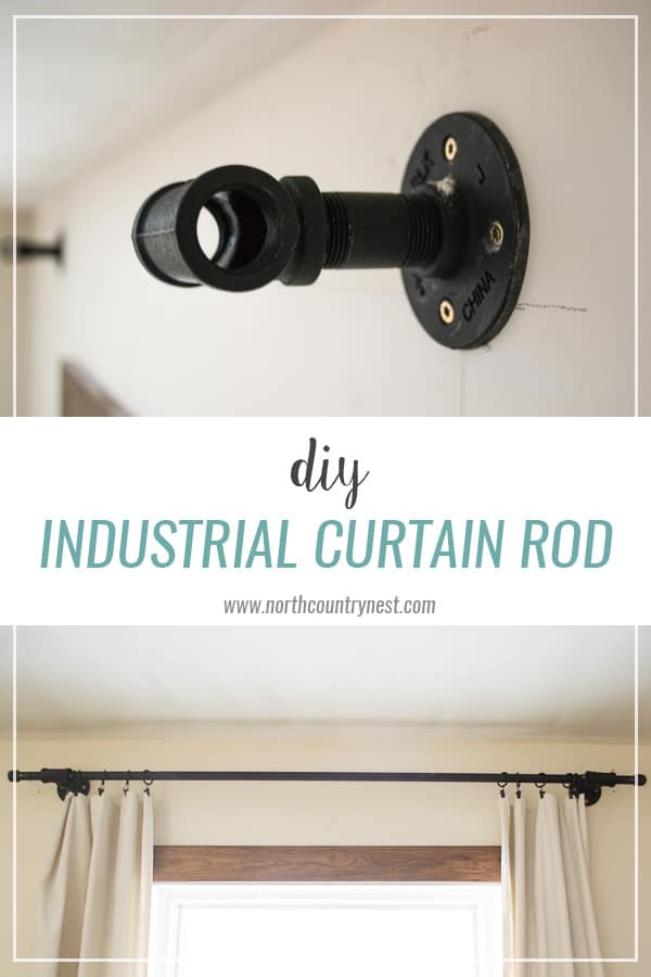 DIY Industrial Curtain Rod