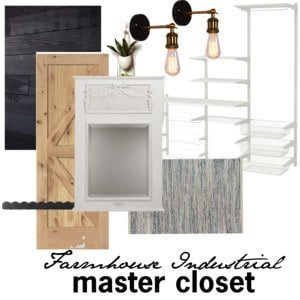farmhouse industrial master closet