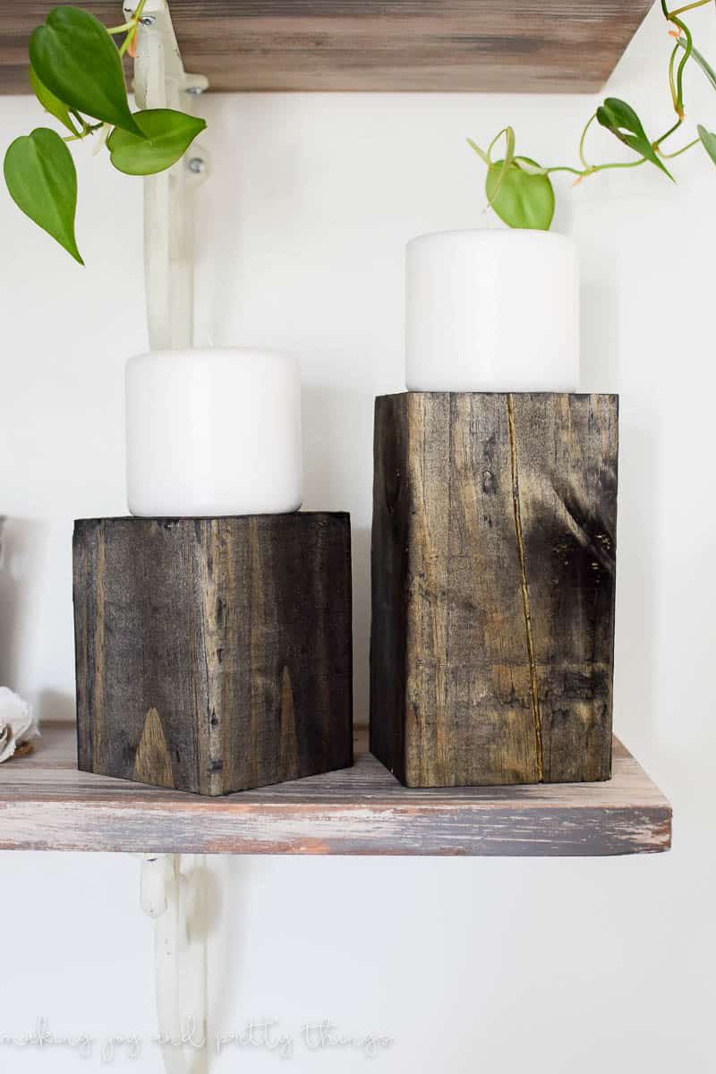 Diy Wood Block Candle Holders Making Joy And Pretty Things