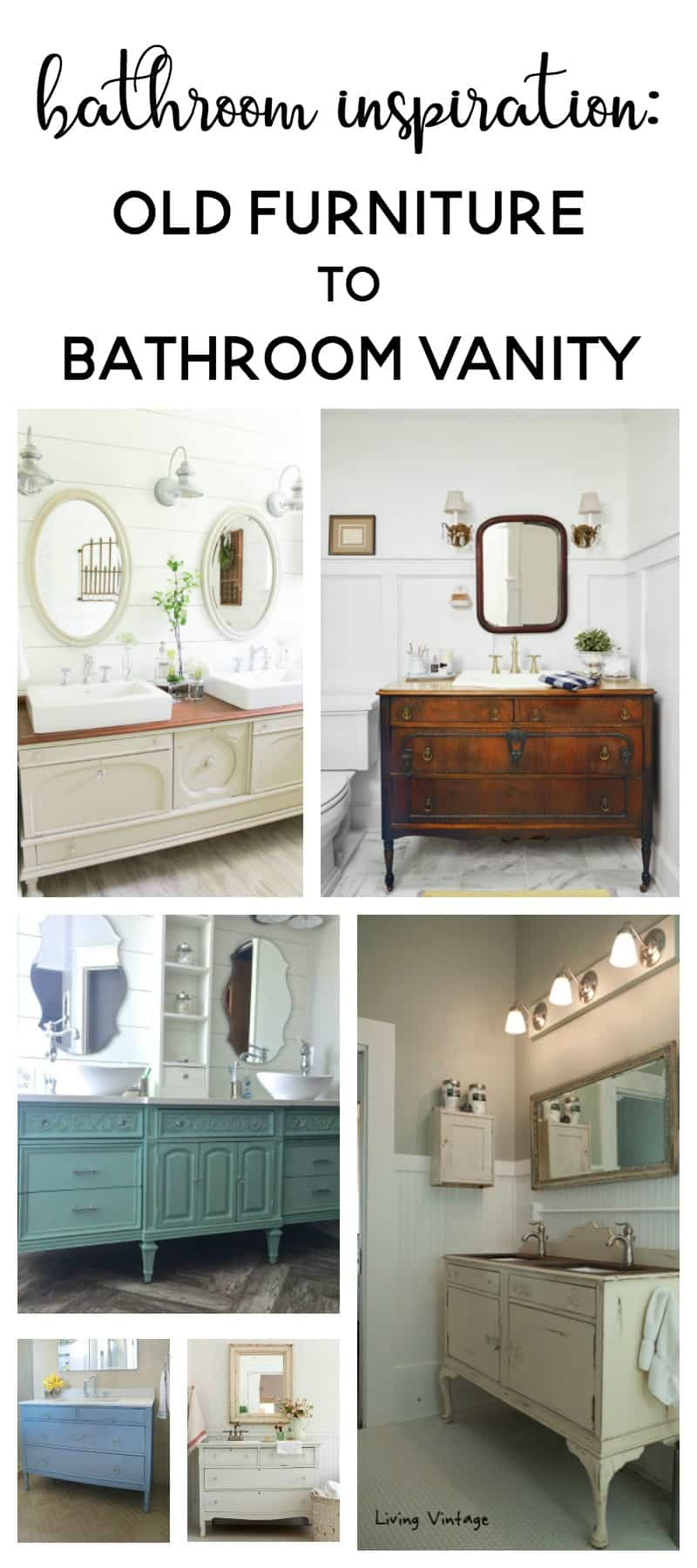 Bathroom Inspiration Using A Dresser As A Vanity Making Joy And Pretty Things