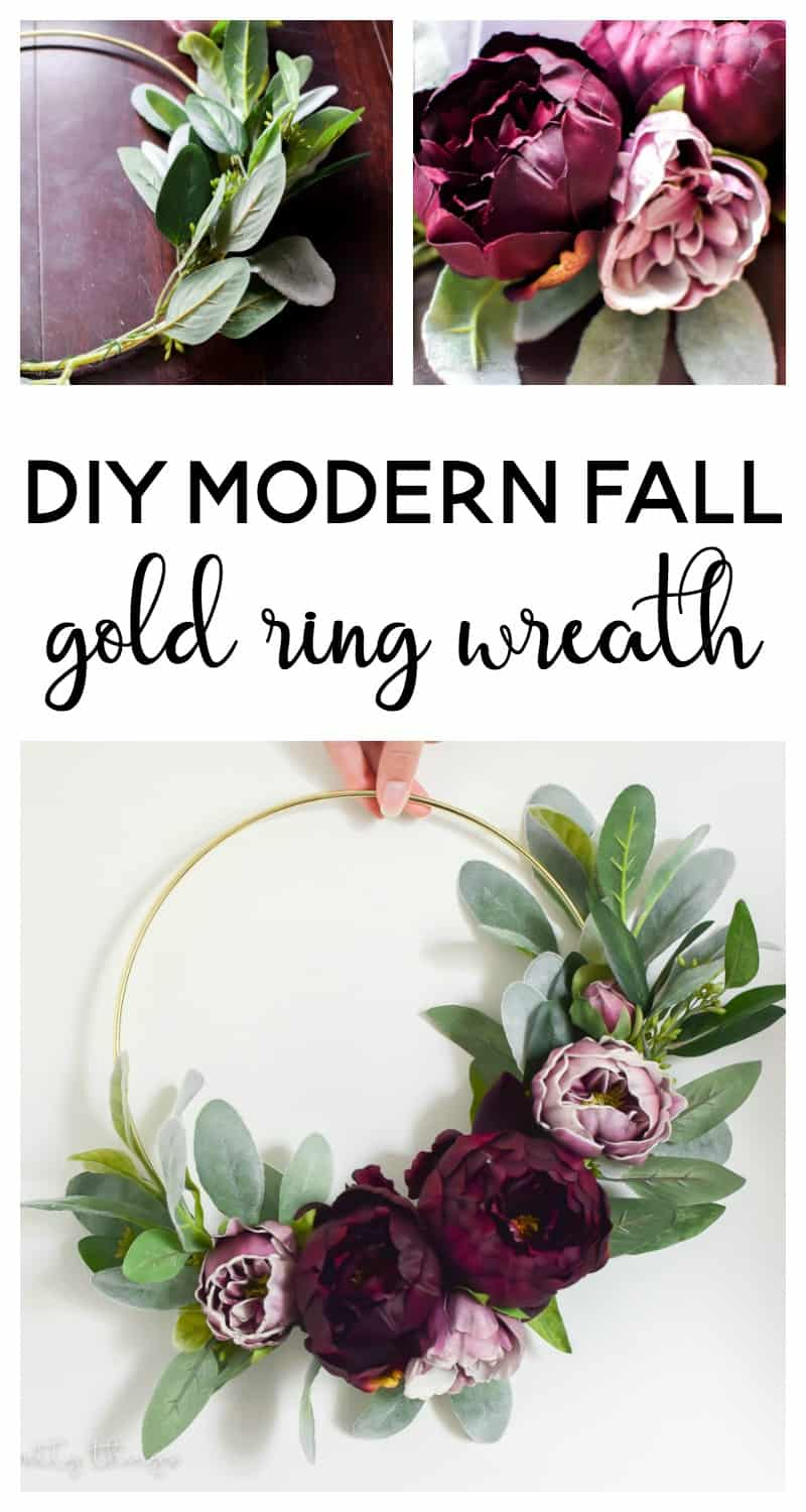 Diy Modern Fall Gold Ring Wreath Making Joy And Pretty Things