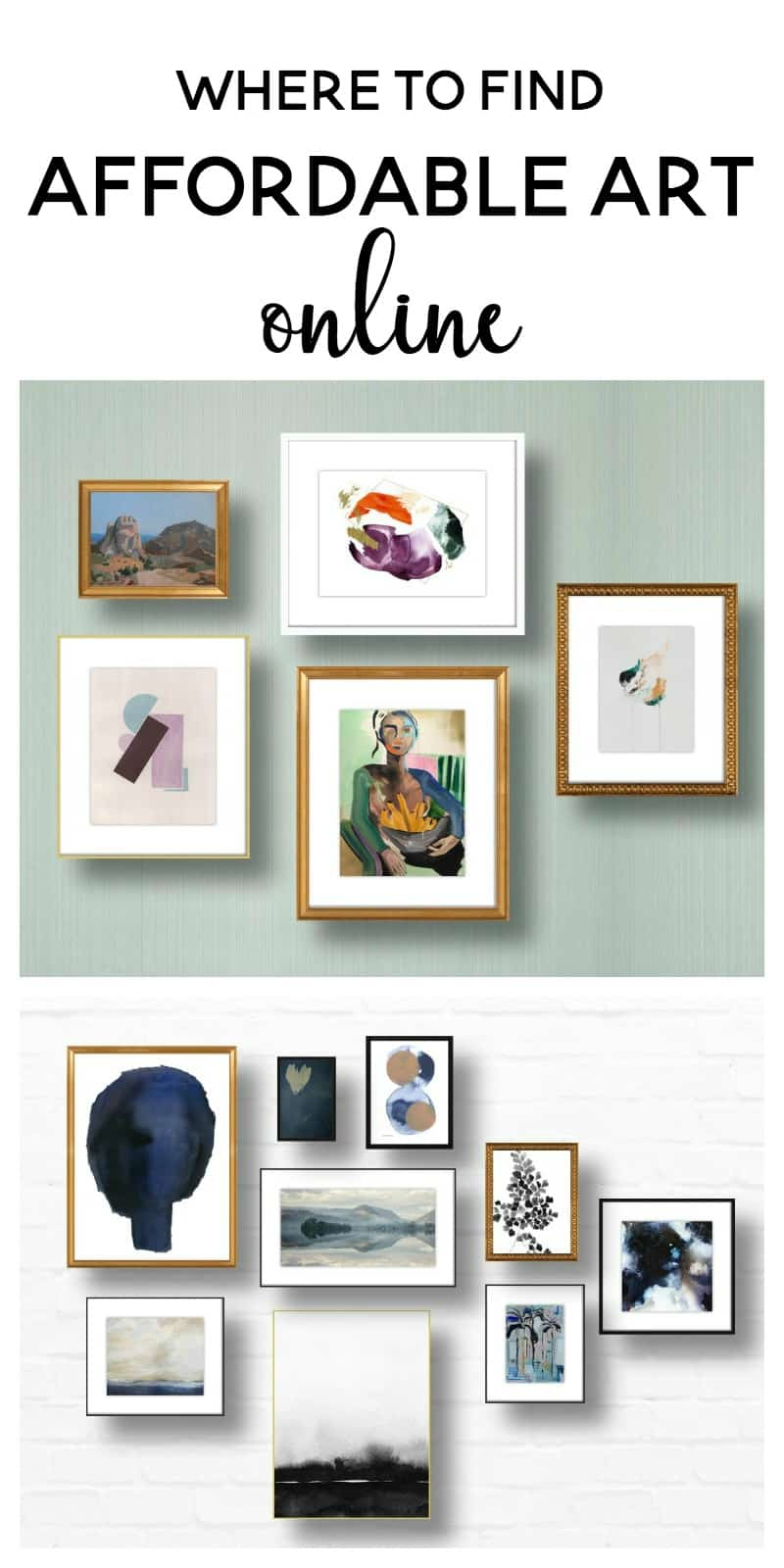 where to find affordable art online part 1 | artfully walls | budget friendly home decor | gallery walls | gallery wall inspiration | how to make a gallery wall | abstract art