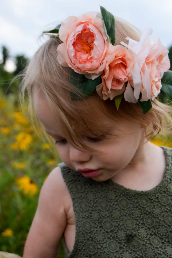 diy floral crown | faux flowers | flower girl ideas | diy flower crown for kids | diy flower crown easy | flower crown wedding | diy flower crown for toddlers | toddler girl photo shoot | photoshoot ideas |