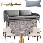 mid century modern   living room   mid century modern living room   living rooms ideas   mood board   living room design