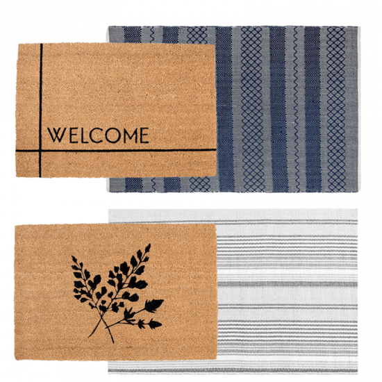 Easy and affordable front porch decor ideas you can do to create a welcoming curb appeal and dress up your entryway. Find out how to layer doormats, mix and match doormats, and more doormat ideas. Get all the front porch inspiration you need to get the best layered doormat combination. Doormat Layering Guide and front porch decor ideas! #layereddoormat #doormat #entryway #porch #diy #decor #designinspo