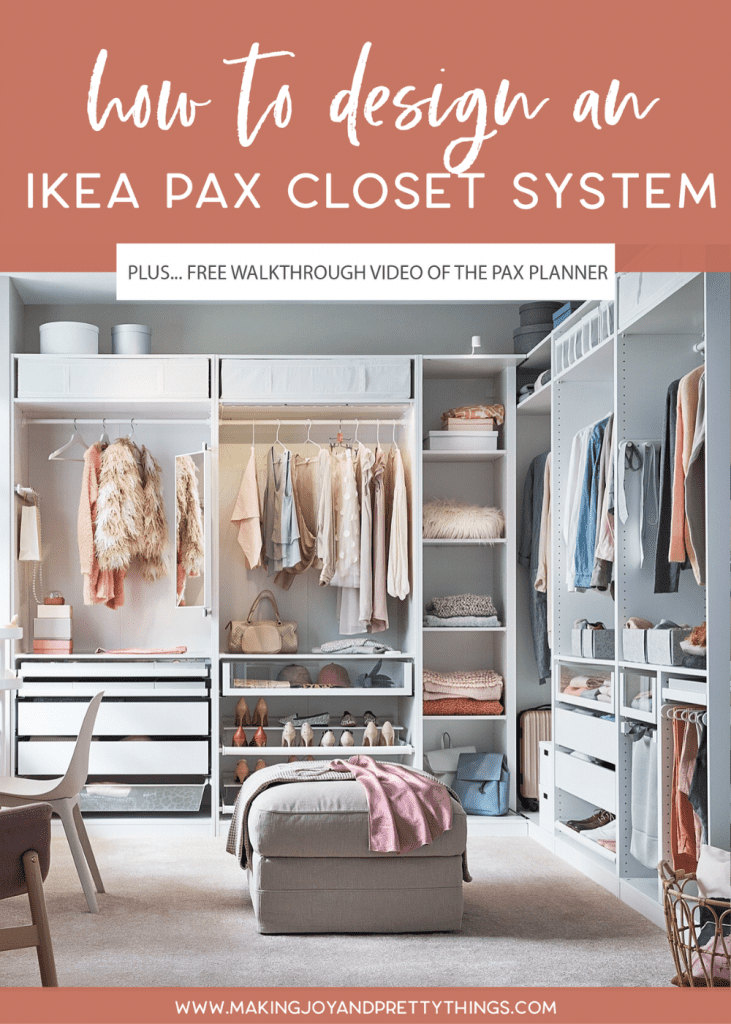 Today I'm sharing all about the IKEA Pax Wardrobes! I'm going to show you how to use the IKEA Pax Planner (aka how to customize IKEA Pax) including a free video walkthrough of the process. The IKEA Pax system is a beautiful budget-friendly alternative to a custom closet. I'm sharing all my tips and tricks for customizing your IKEA Pax Closet, designing your IKEA Pax system, and how to use IKEA Pax Planner. #ikea #pax #paxcloset #ikeapax #paxplanner