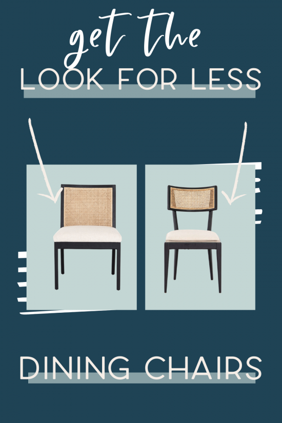 It's the fourth edition of get the look for less and today I'm sharing look for less dining chairs! You can have a beautiful stylish home without breaking the bank! Get the same luxurious and expensive looking dining chairs at a budget friendly price. These dining chairs would be perfect in your dining room. You don't have to break the bank to have a beautiful home. If you're looking for dining room ideas or dining room design, this is for you! #diningroom #diningchairs #diningroomchairs