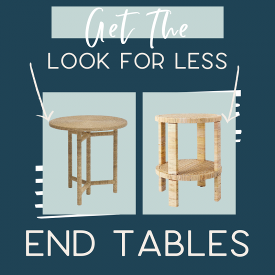 It's the fifth edition of get the look for less and today I'm sharing look for less end tables! You can have a beautiful stylish home without breaking the bank! Get the same luxurious and expensive looking end tables at a budget friendly price. These end tables would be perfect in your living room or bedroom. You don't have to break the bank to have a beautiful home. If you're looking for living room ideas or bedroom design, this is for you! #endtables #livingroom #bedroom