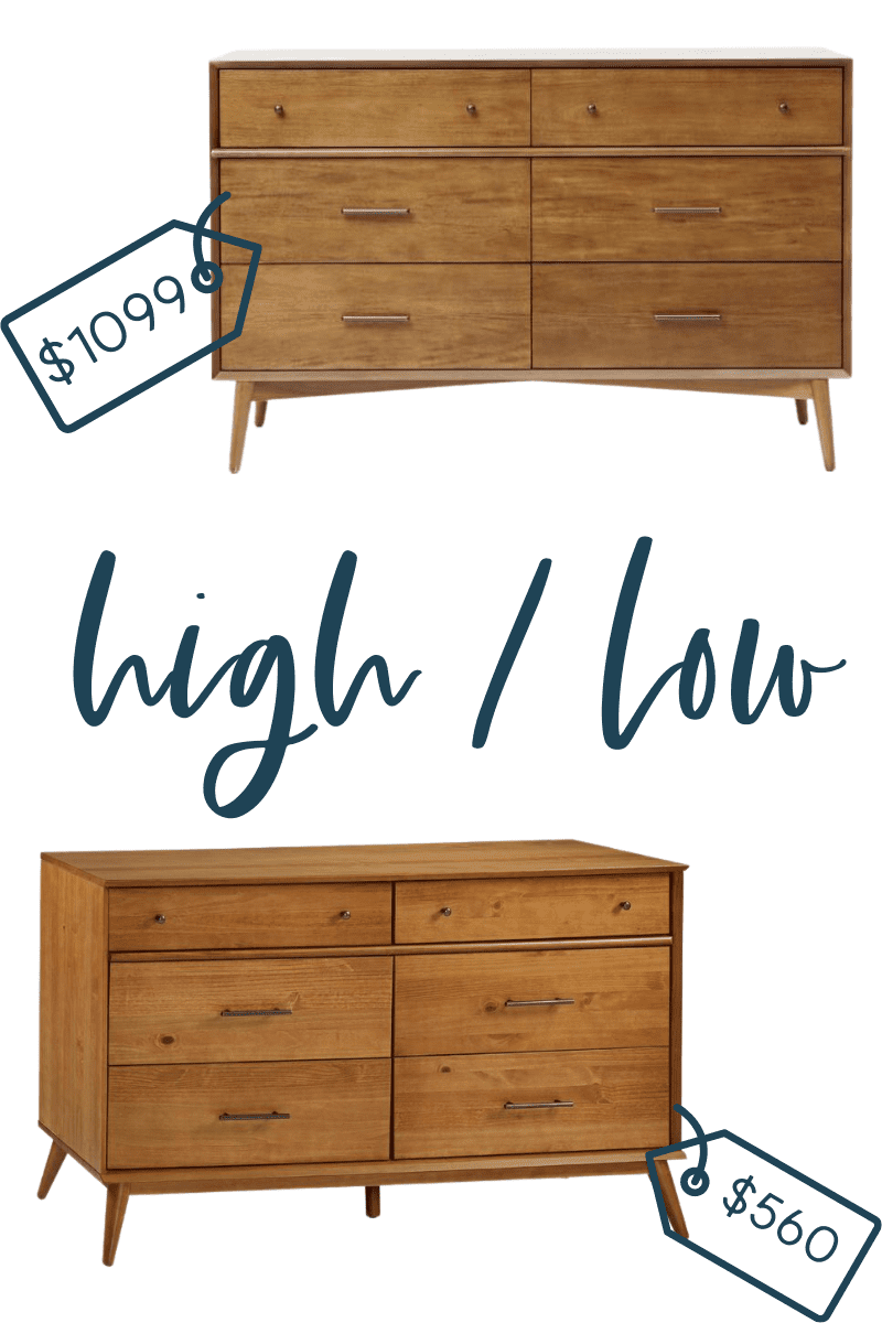 It's time for another edition of get the look for less and today I'm sharing look for less console dressers! You can have a beautiful stylish home without breaking the bank! Find a beautiful bedroom dresser at a budget friendly price. These dressers would be perfect in your master bedroom or guest bedroom. You don't have to break the bank to have a beautiful home. If you're looking for bedroom ideas, this is for you! #dressers #bedroom #masterbedroom