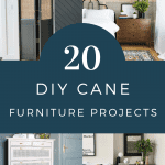 Chatting about a design trend that I'm loving - DIY cane furniture! If you're looking to add an organic, natural look to your living room, dining room, or bedroom that goes with any design style, cane furniture is perfect! Sharing so many different DIY cane furniture pieces including some great IKEA hacks. There is a DIY cane headboard, DIY cane cabinet, DIY cane dresser, DIY cane bed, DIY cane doors and so much more! So many beautiful DIY cane furniture pieces that you're sure to be inspired to create yourself. #cane #canefurniture #diycanefurniture