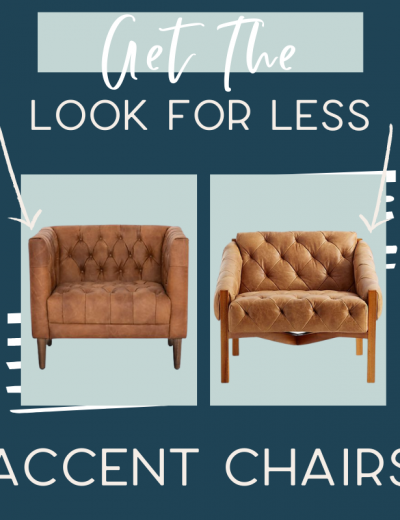 It's time for another edition of get the look for less and today I'm sharing look for less accent chairs! You can have a beautiful stylish home without breaking the bank! Get the same luxurious and expensive looking living room accent chairs at a budget friendly price. These accent chairs would be perfect in your living room or bedroom. You don't have to break the bank to have a beautiful home. If you're looking for living room ideas or bedroom design, this is for you! #accentchairs #livingroom #bedroom #chairs
