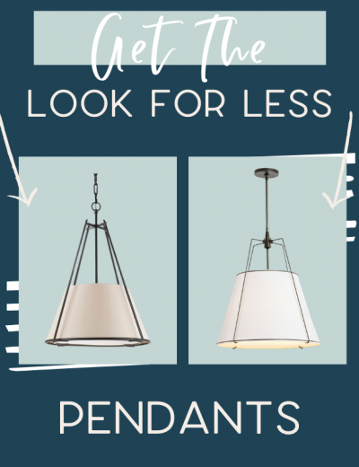 It's time for another edition of get the look for less and today I'm sharing look for less pendants! You can have a beautiful stylish home without breaking the bank! Find a beautiful pendant at a budget friendly price. These pendants would be perfect in your hallway or as kitchen island lighting. You don't have to break the bank to have a beautiful home. Find bedroom pendants, dining room pendants, and kitchen island pendants. If you're looking for light ideas, this is for you! #pendants #lights #lighting #pendant